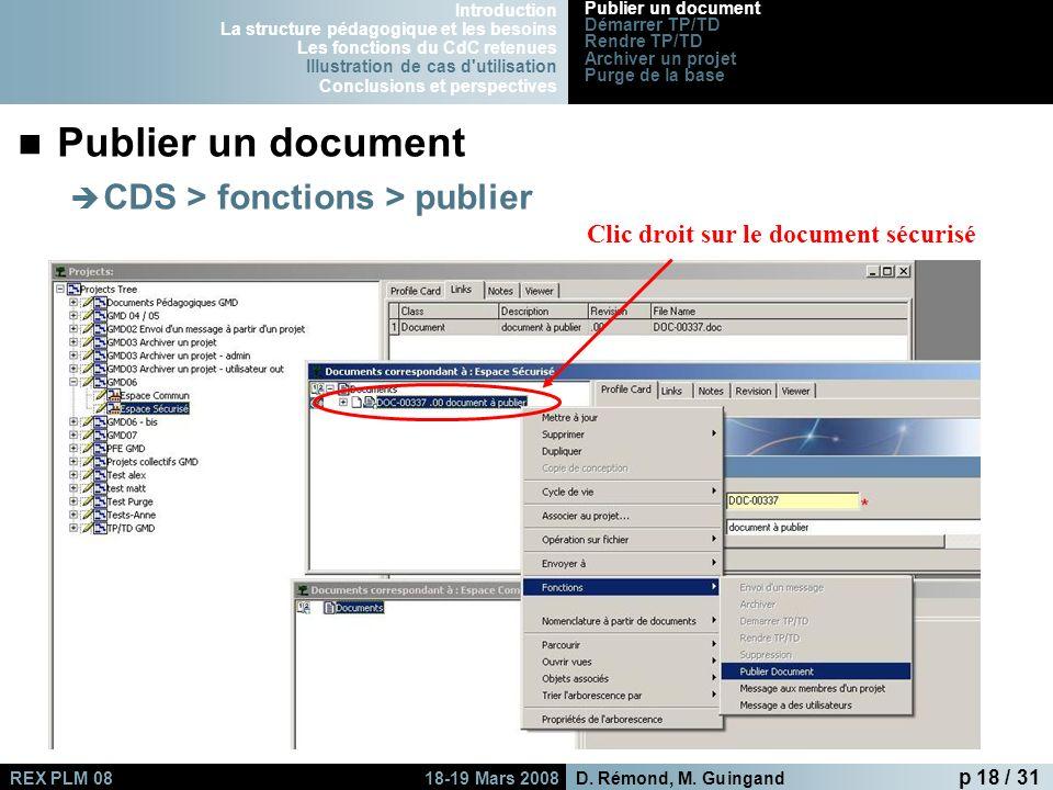 Publier un document CDS > fonctions > publier
