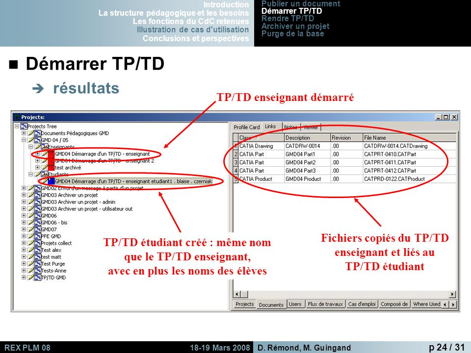 Fichiers copiés du TP/TD enseignant et liés au TP/TD étudiant