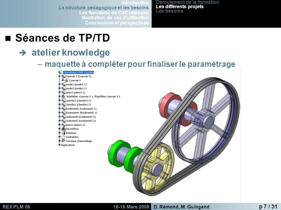 Séances de TP/TD atelier knowledge