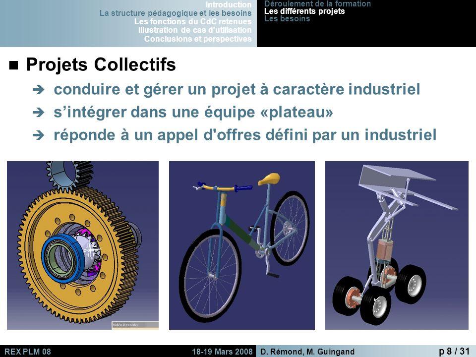 Projets Collectifs conduire et gérer un projet à caractère industriel