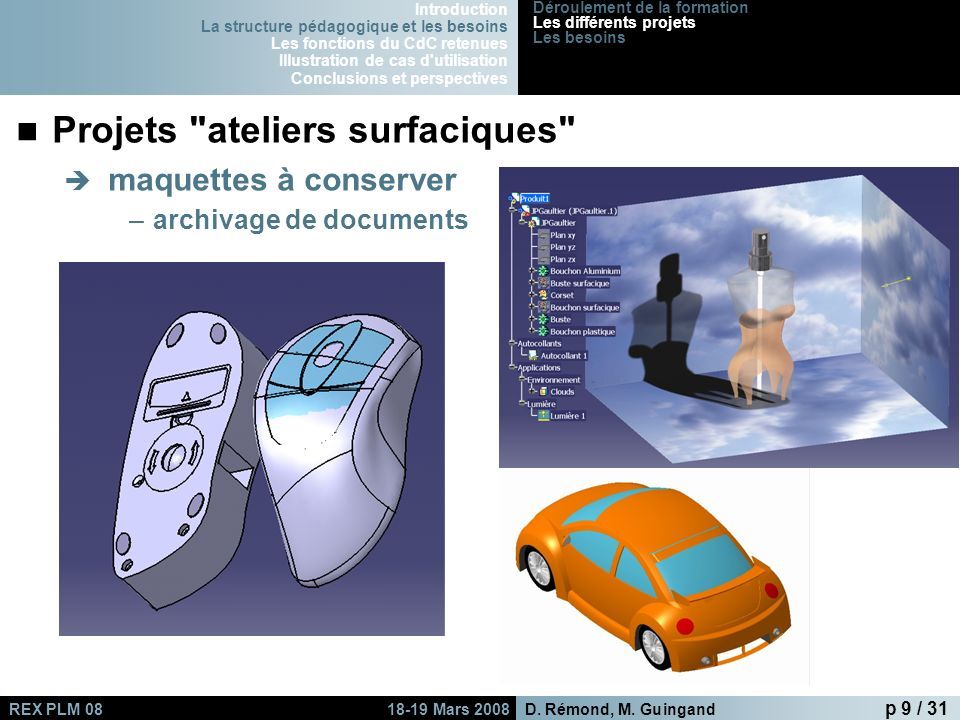 Projets ateliers surfaciques