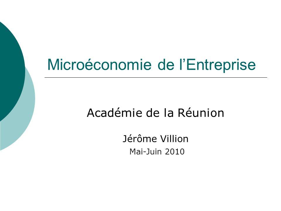 Microéconomie de l'Entreprise