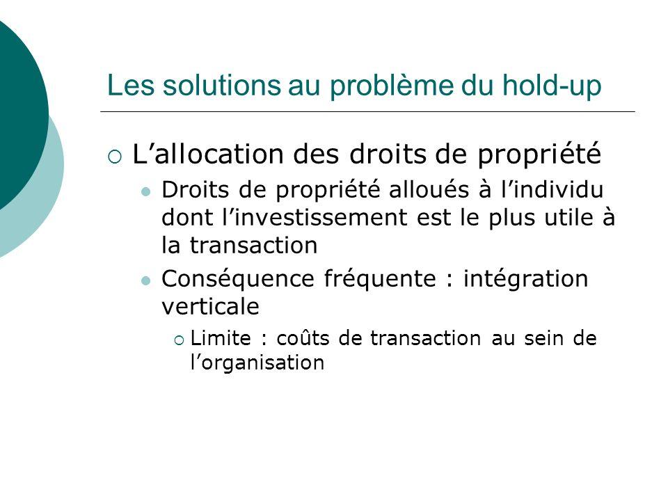 Les solutions au problème du hold-up