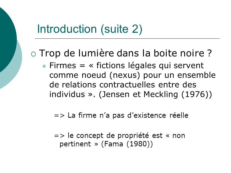 Introduction (suite 2) Trop de lumière dans la boite noire