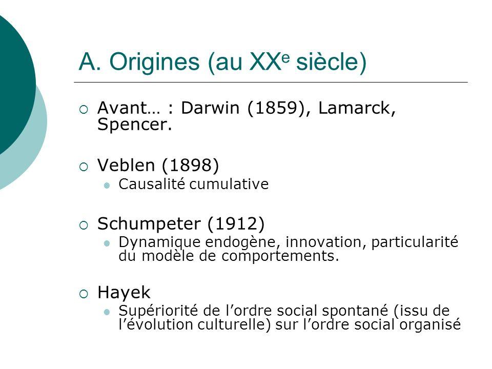 A. Origines (au XXe siècle)