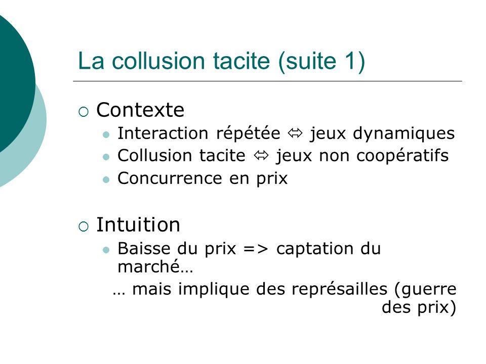 La collusion tacite (suite 1)