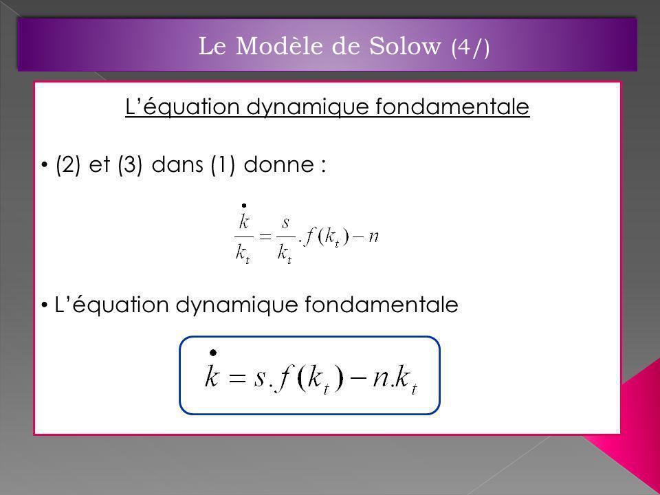L'équation dynamique fondamentale