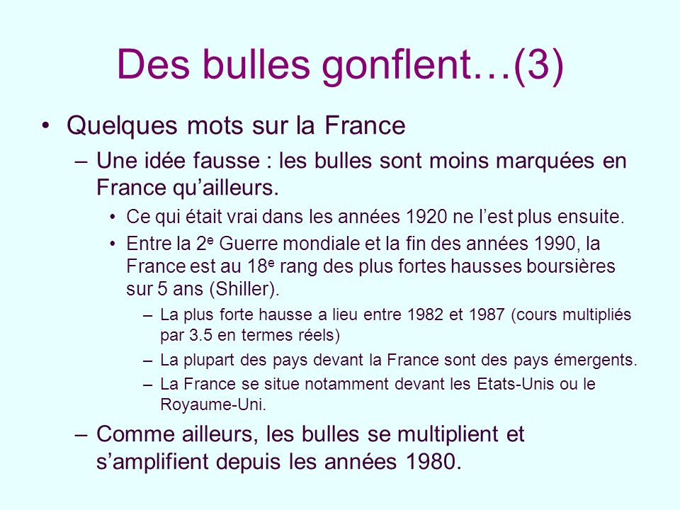 Des bulles gonflent…(3)