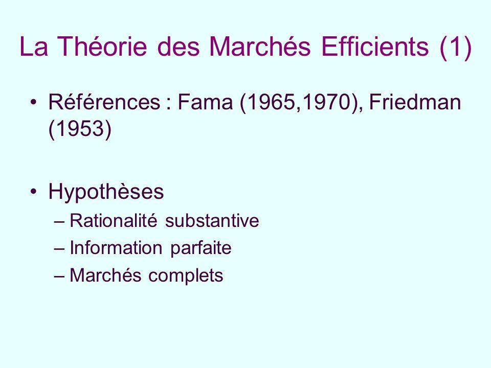 La Théorie des Marchés Efficients (1)