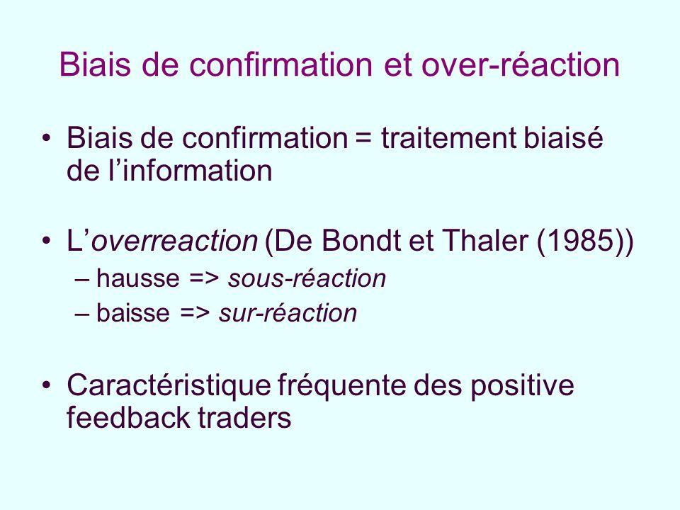 Biais de confirmation et over-réaction