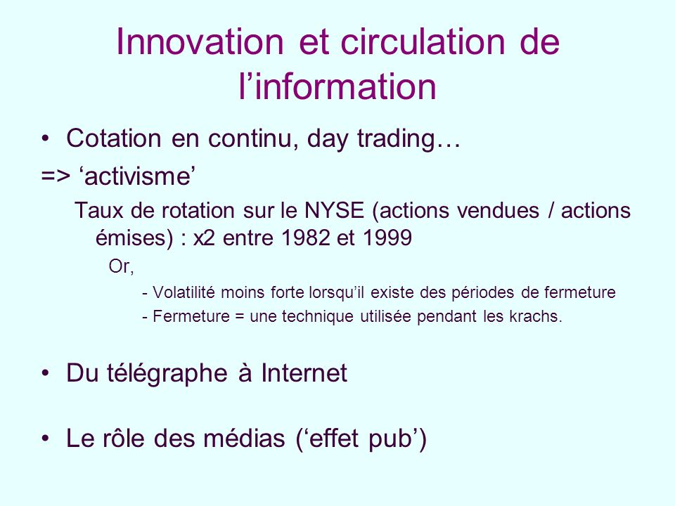 Innovation et circulation de l'information