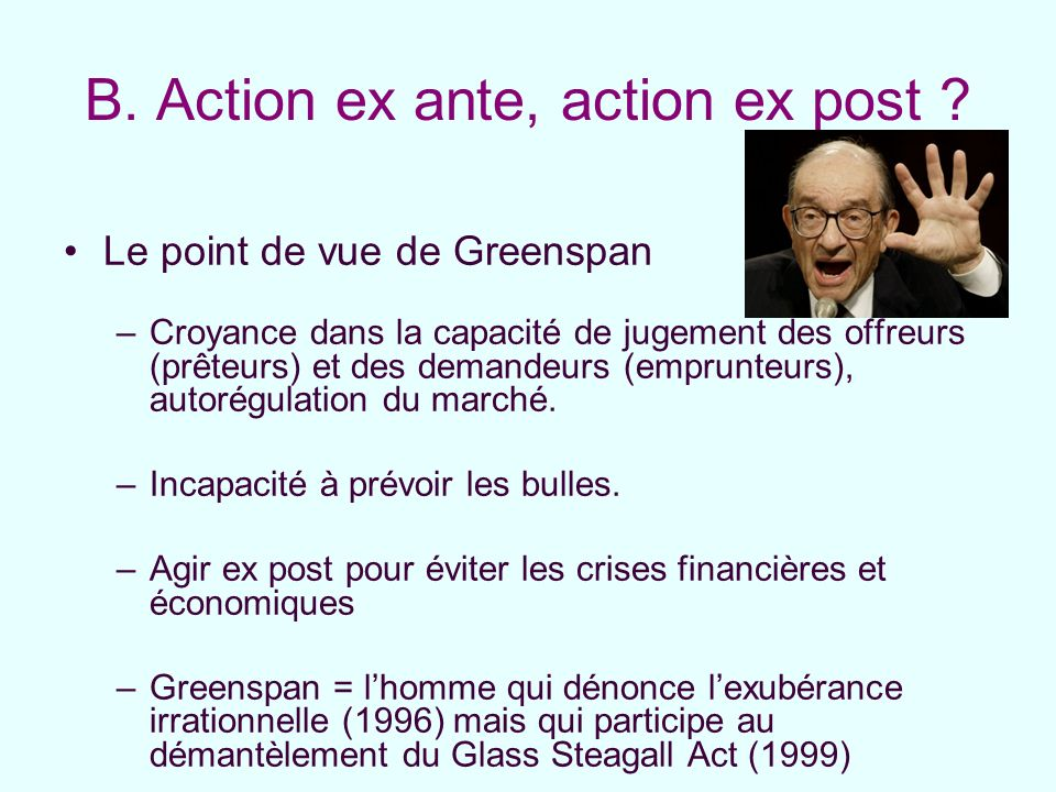 B. Action ex ante, action ex post