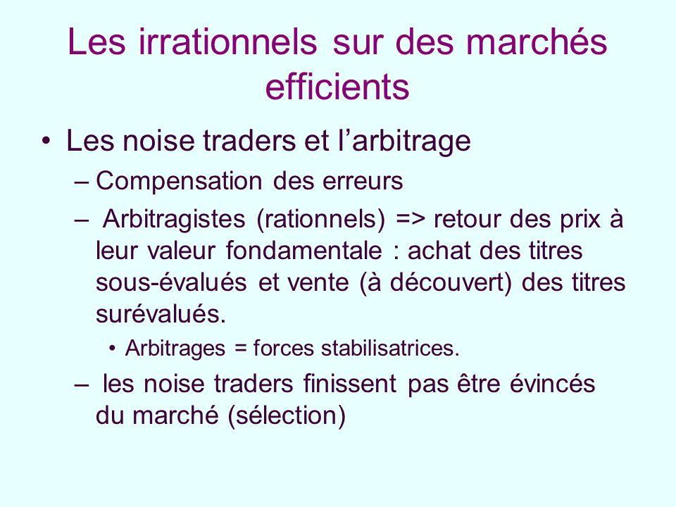 Les irrationnels sur des marchés efficients