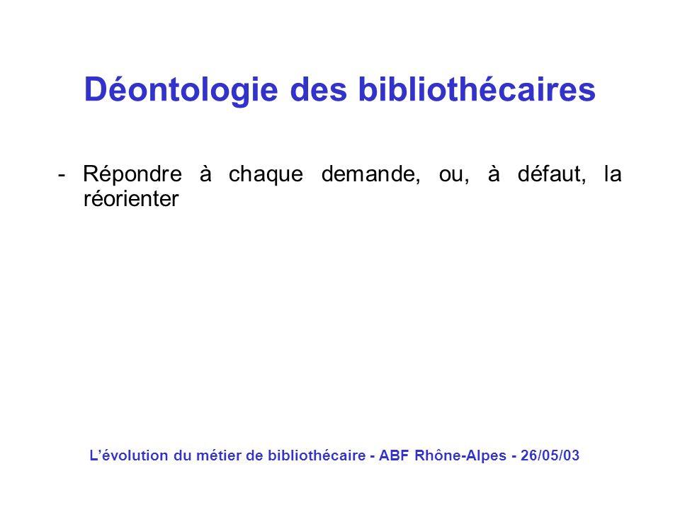 Déontologie des bibliothécaires