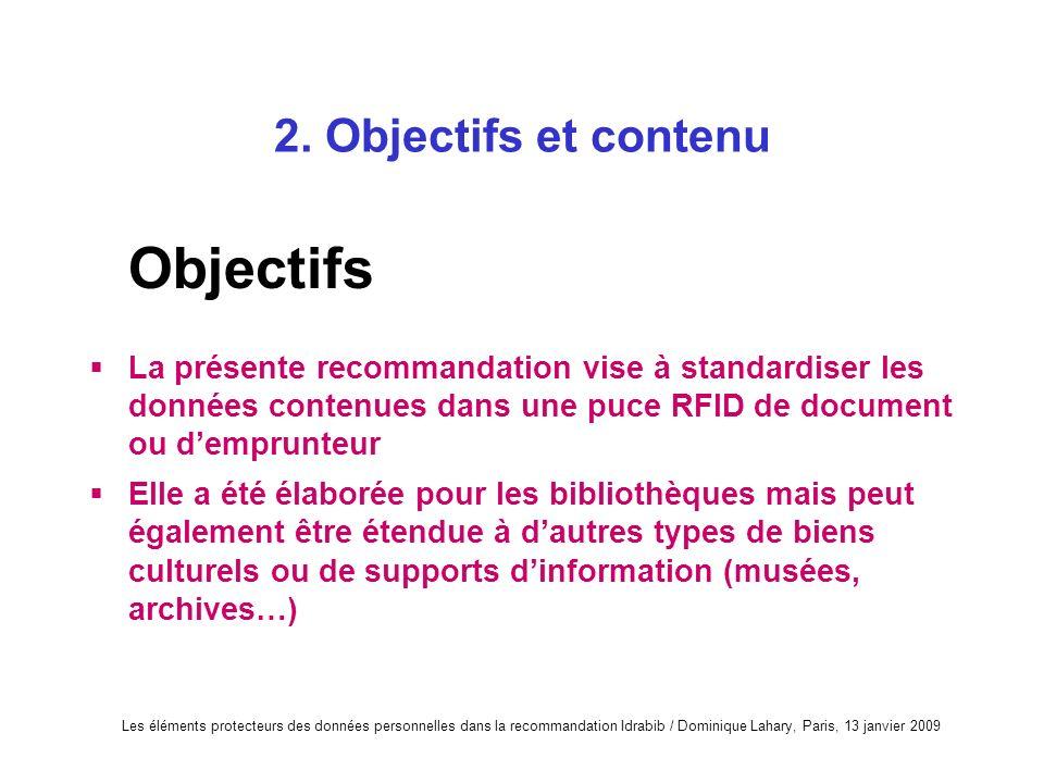 Objectifs 2. Objectifs et contenu