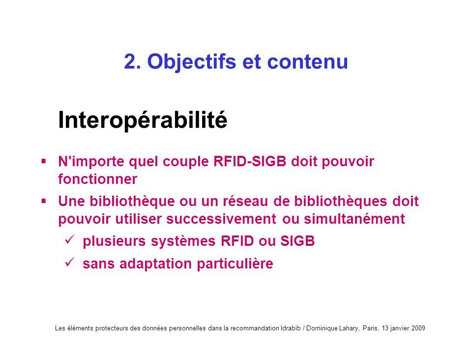 Interopérabilité 2. Objectifs et contenu