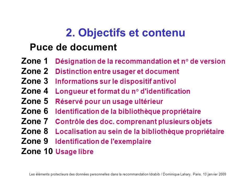 2. Objectifs et contenu Puce de document