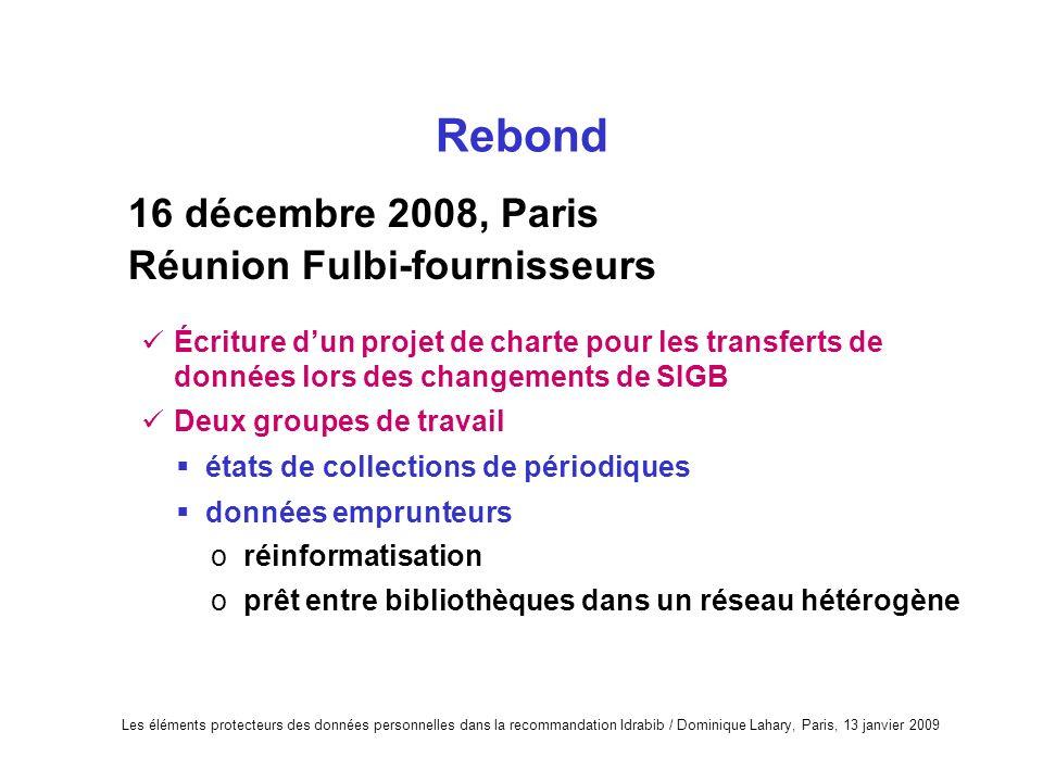 16 décembre 2008, Paris Réunion Fulbi-fournisseurs