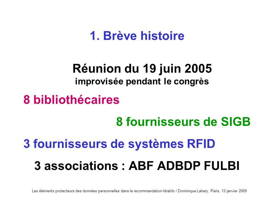 Réunion du 19 juin 2005 improvisée pendant le congrès