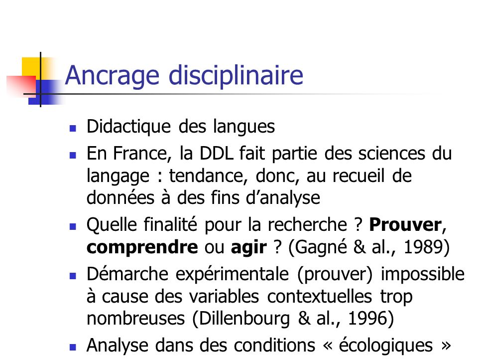 Ancrage disciplinaire