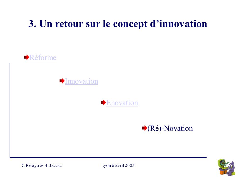 3. Un retour sur le concept d'innovation