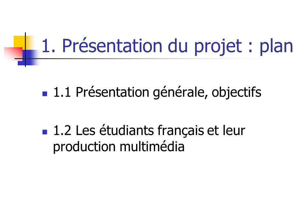 1. Présentation du projet : plan