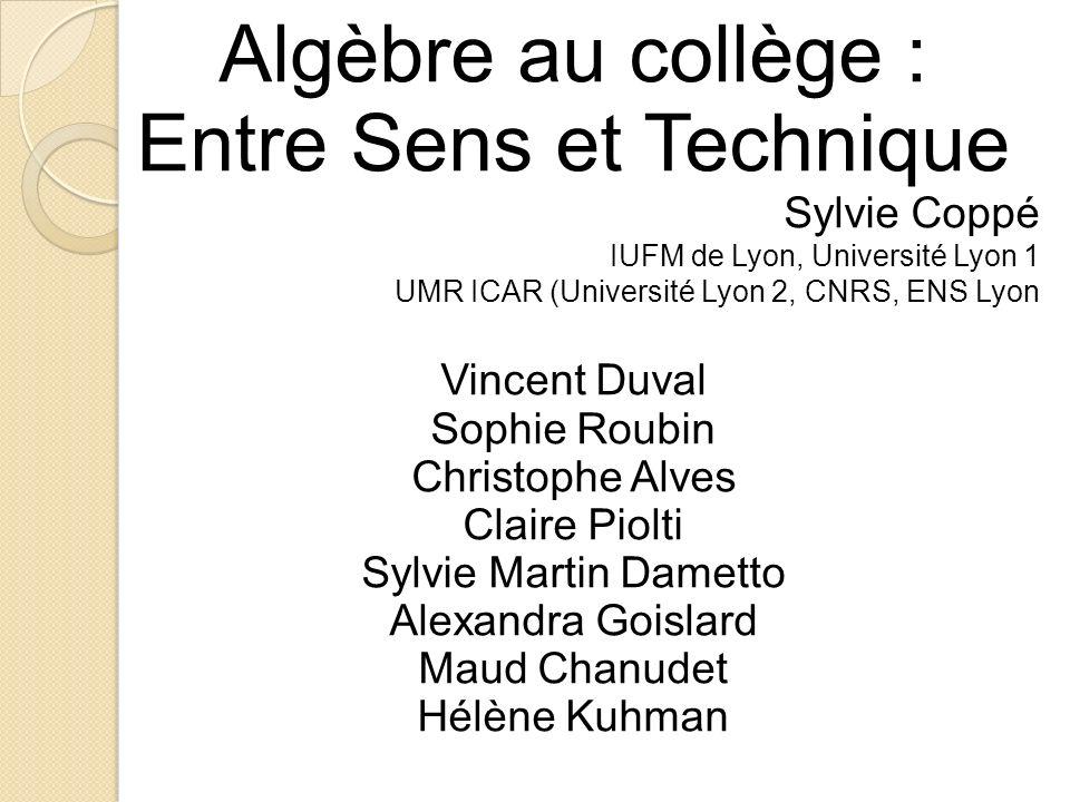 Algèbre au collège : Entre Sens et Technique