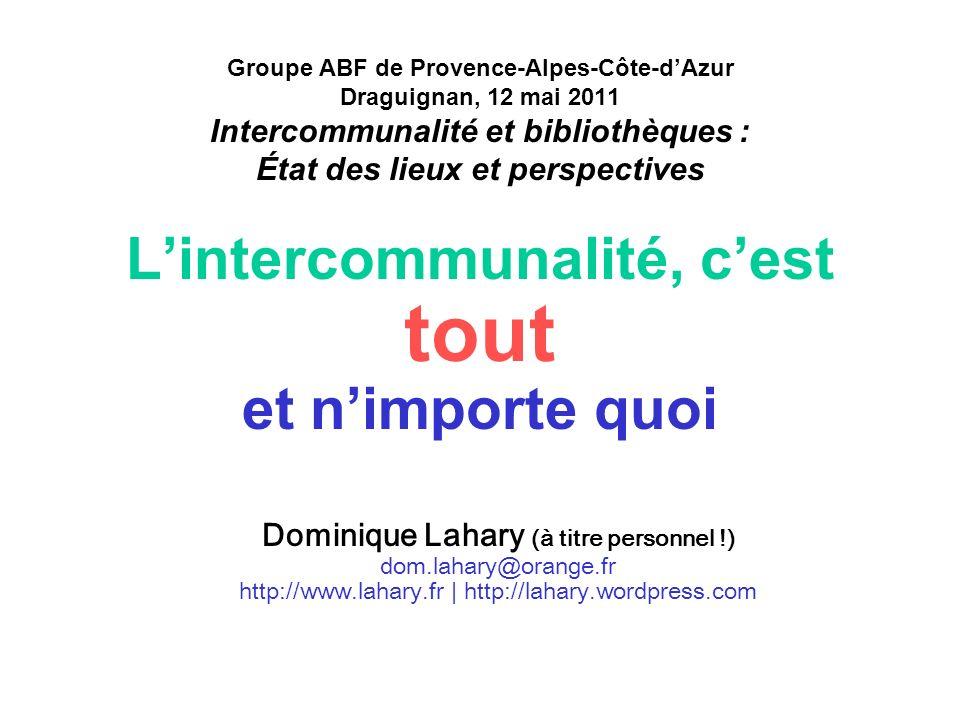 L'intercommunalité, c'est