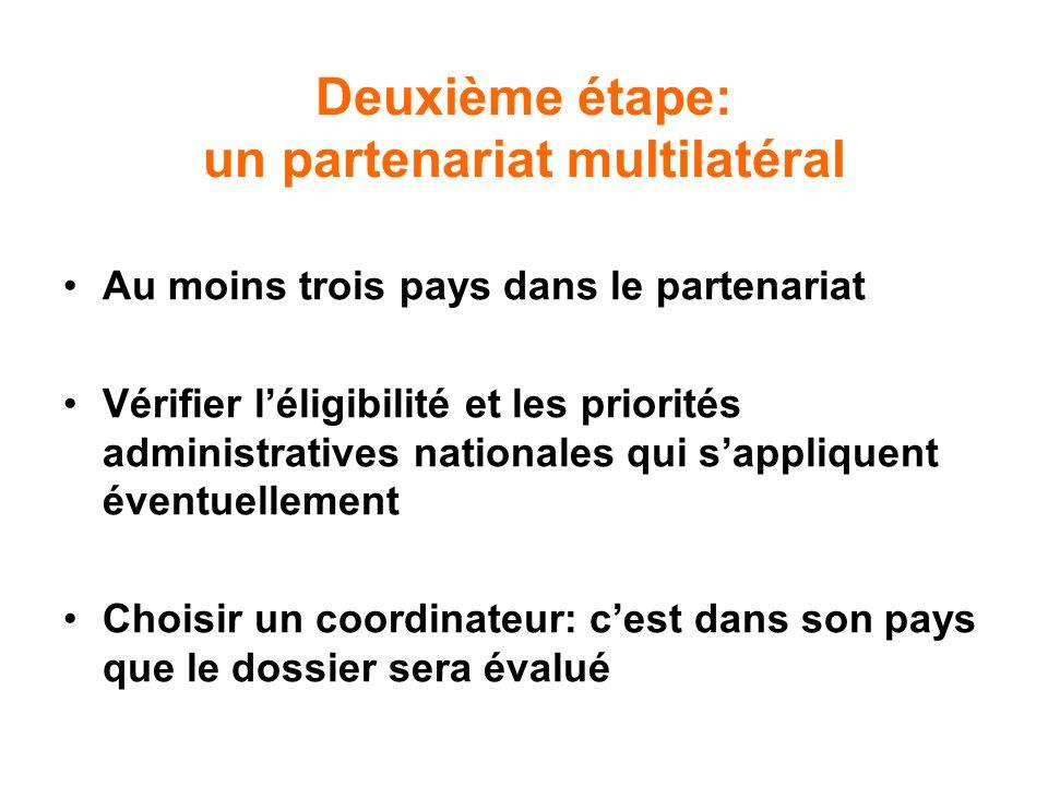 Deuxième étape: un partenariat multilatéral