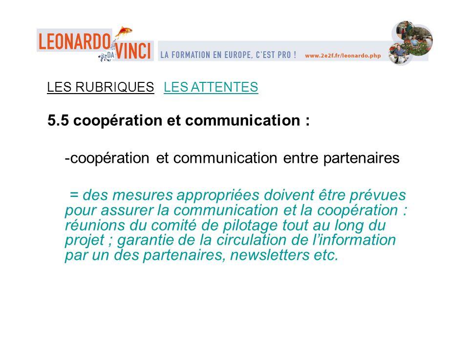 5.5 coopération et communication :