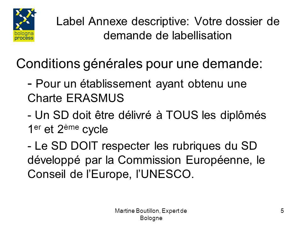 Label Annexe descriptive: Votre dossier de demande de labellisation