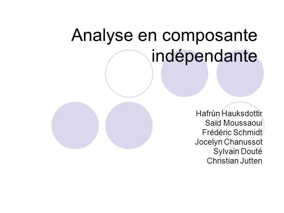 Analyse en composante indépendante