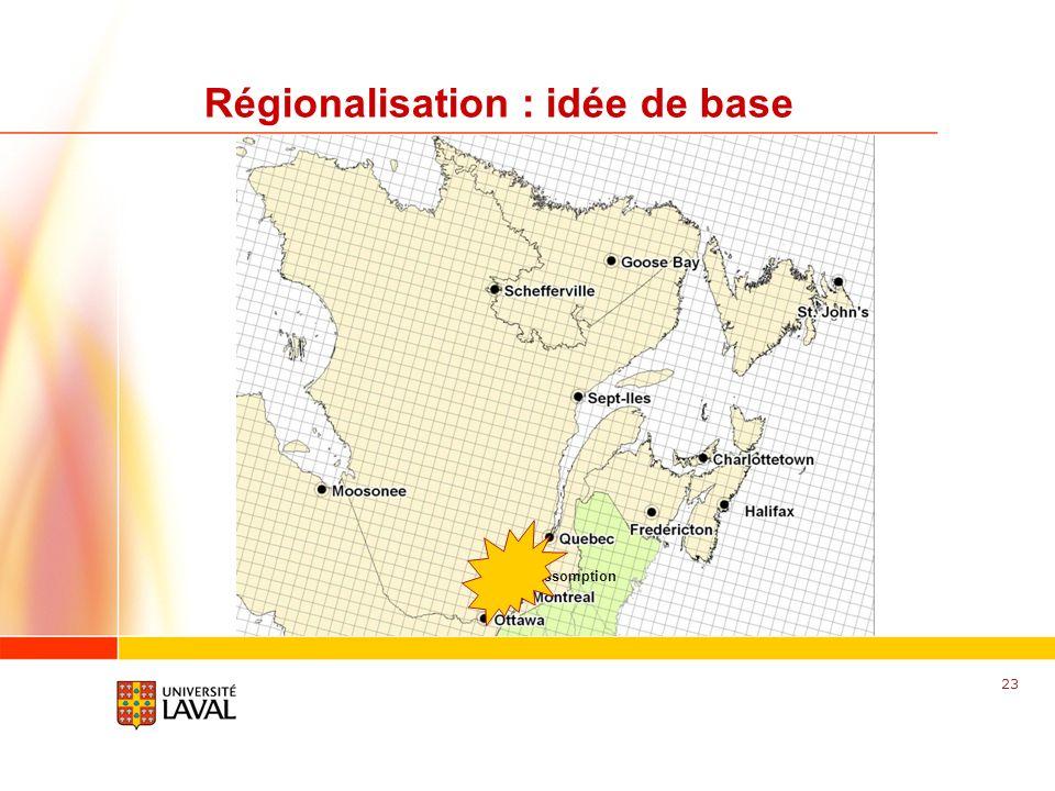 Régionalisation : idée de base