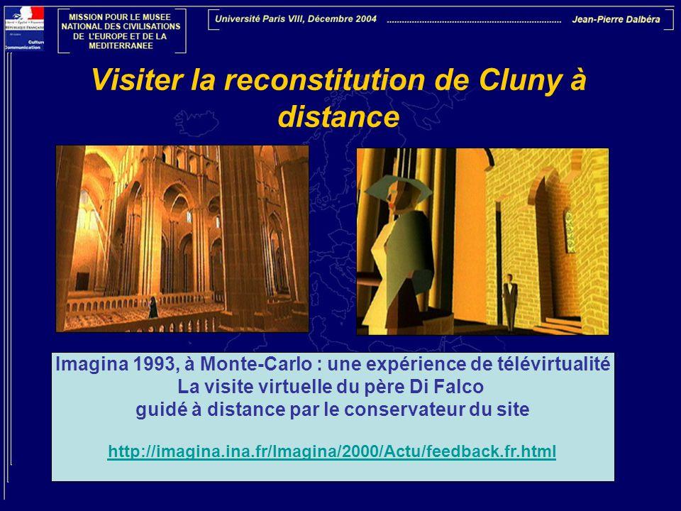 Visiter la reconstitution de Cluny à distance