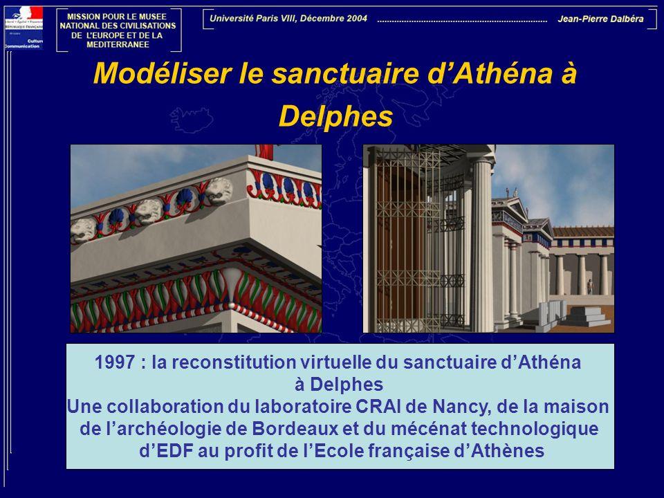 Modéliser le sanctuaire d'Athéna à Delphes