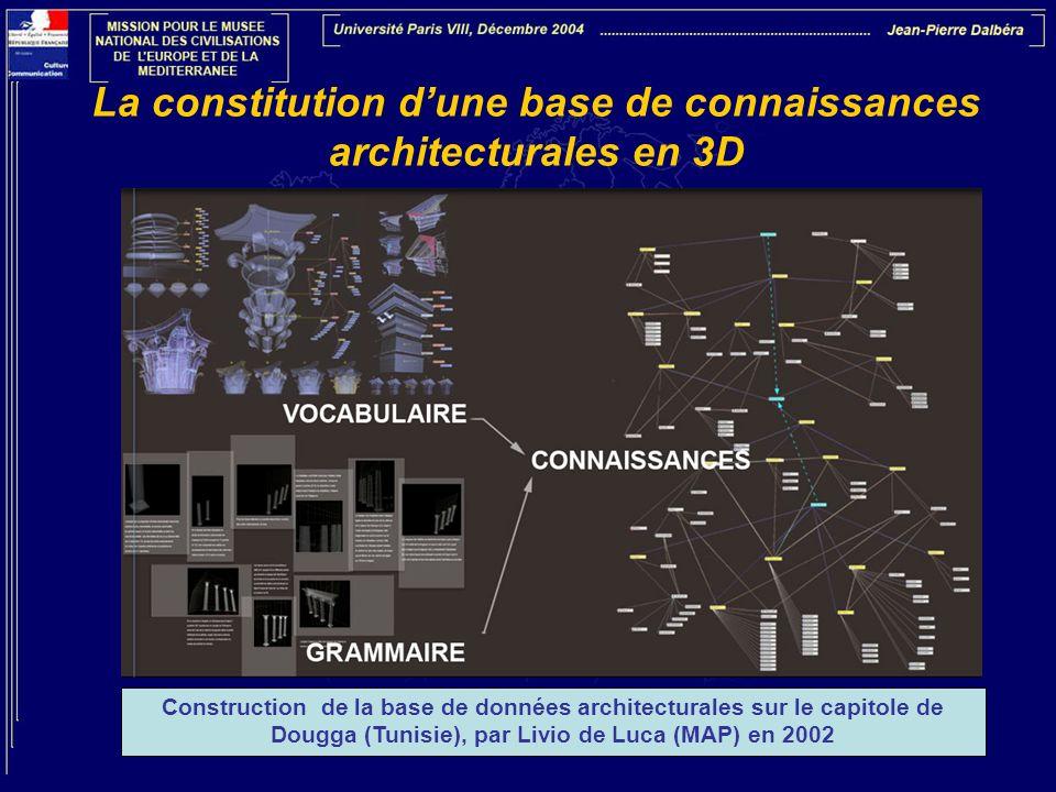 La constitution d'une base de connaissances architecturales en 3D
