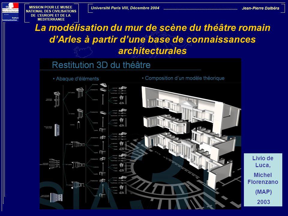 La modélisation du mur de scène du théâtre romain d'Arles à partir d'une base de connaissances architecturales