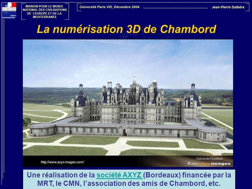 La numérisation 3D de Chambord