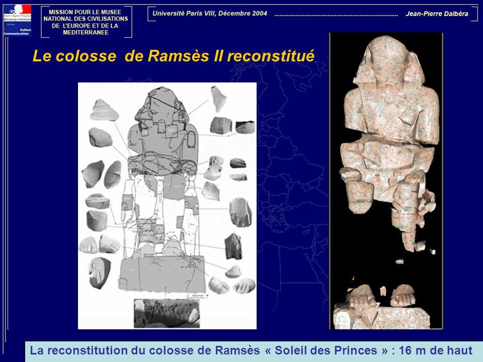 Le colosse de Ramsès II reconstitué
