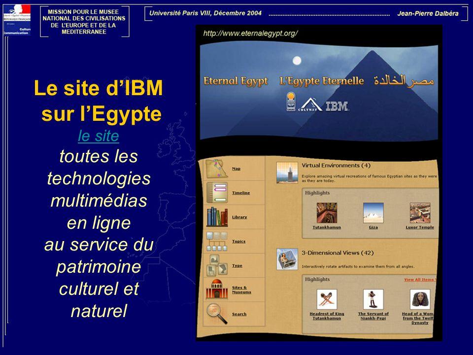 Le site d'IBM sur l'Egypte le site toutes les technologies multimédias en ligne au service du patrimoine culturel et naturel