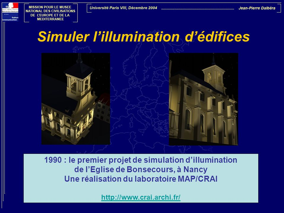 Simuler l'illumination d'édifices