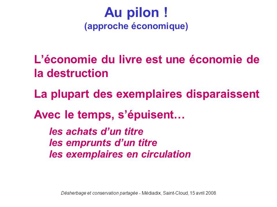 Au pilon ! (approche économique)
