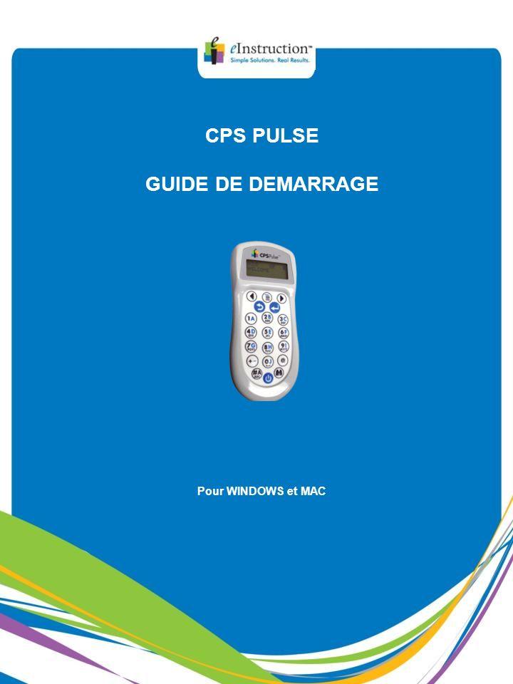 CPS PULSE GUIDE DE DEMARRAGE