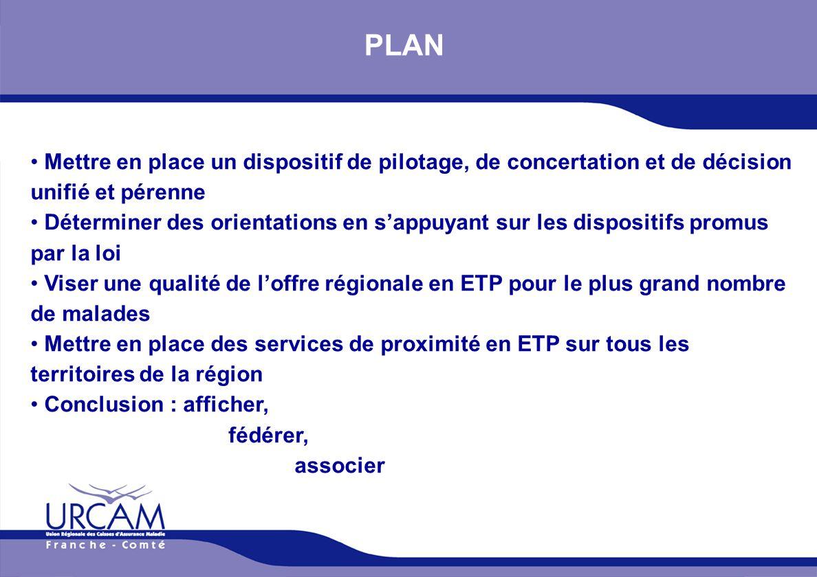 PLAN Mettre en place un dispositif de pilotage, de concertation et de décision unifié et pérenne.
