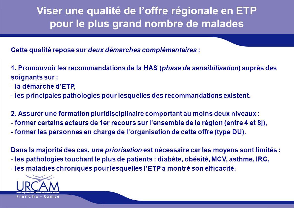 Viser une qualité de l'offre régionale en ETP