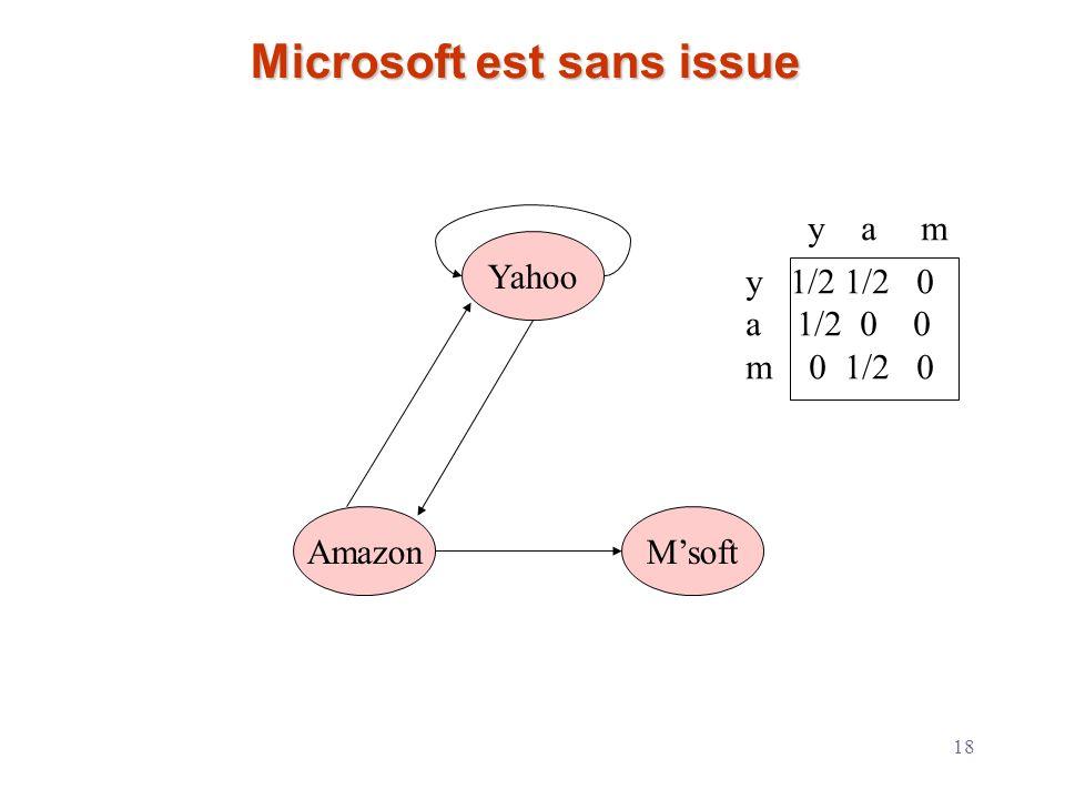 Microsoft est sans issue