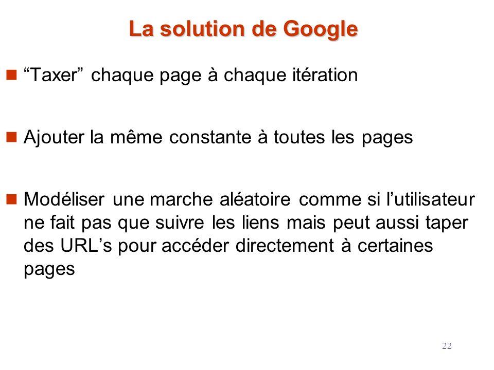 La solution de Google Taxer chaque page à chaque itération