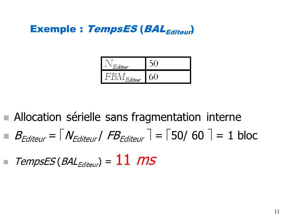 Exemple : TempsES (BALEditeur)