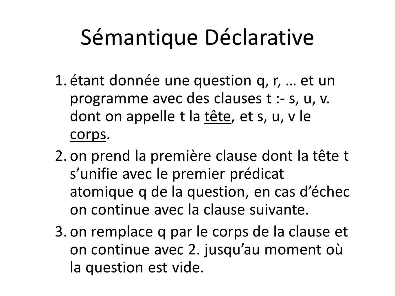 Sémantique Déclarative