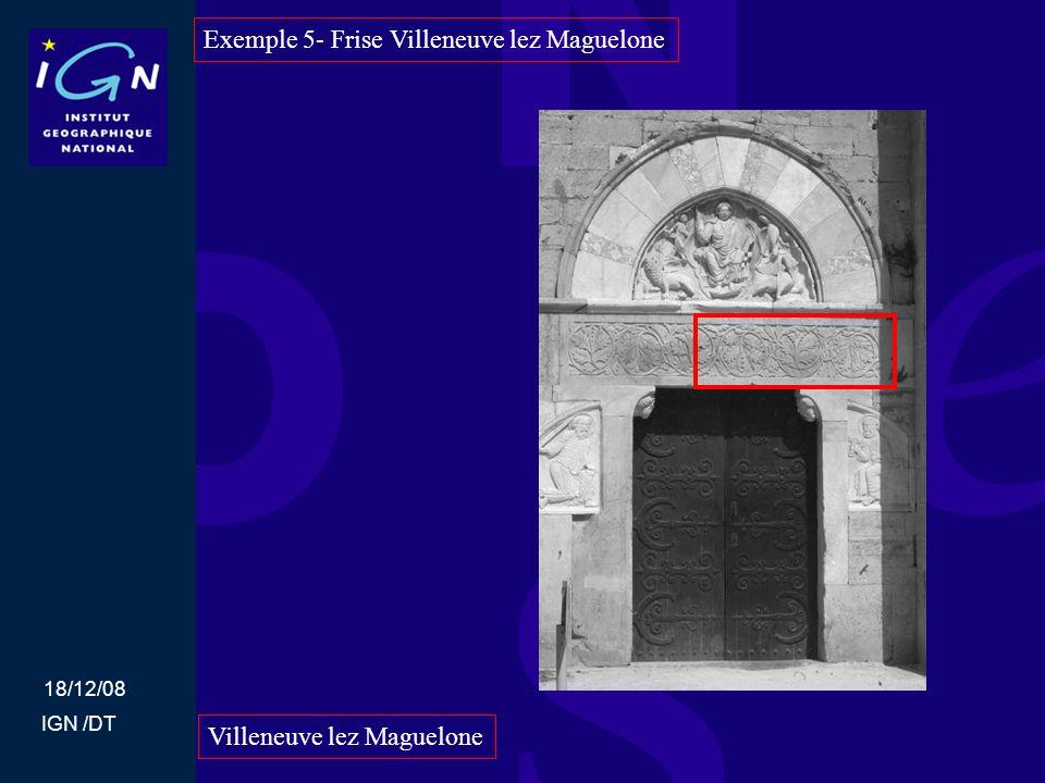 Exemple 5- Frise Villeneuve lez Maguelone
